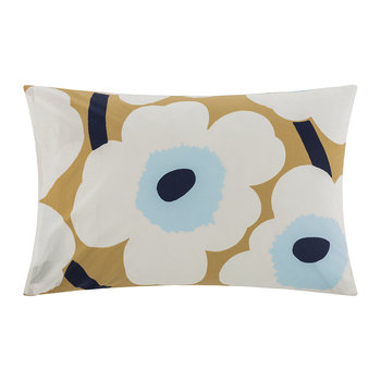 Unikko Pillowcase - Beige/Ecru/Blue