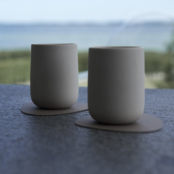 Curve Drinks Coaster - Light Grey
