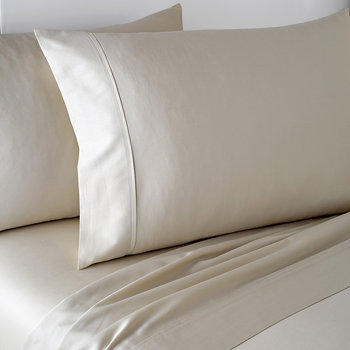 Plain Dye Fitted Sheet - Linen