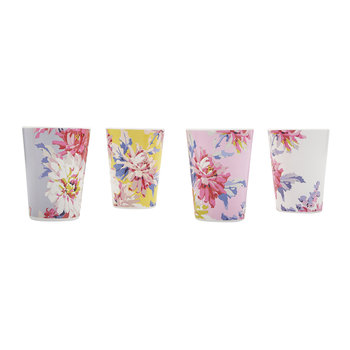 Beau Floral Beakers - Set of 4 - Whitstable Floral