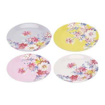 Blaze Floral Plates - Set of 4 - Whitstable Floral
