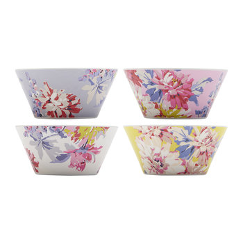 Sable Floral Bowls - Set of 4 - Whitstable Floral