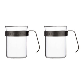 Metal Frame Cups - Set of 2 - Gun Metal