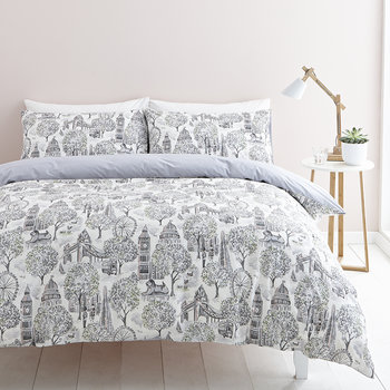 London Toile Duvet Set