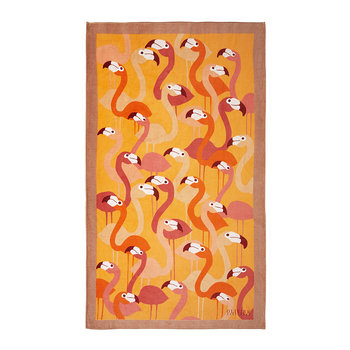 Flamingos Beach Towel - Peach