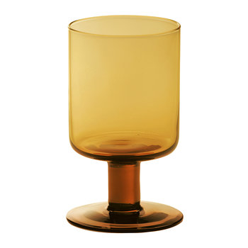 Bloom Wine Goblet - Amber