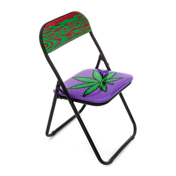 'Blow' Folding Chair - Metal - Weed