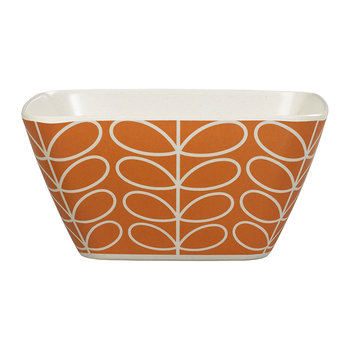 Bamboo Bowl - Linear Stem - Persimmon