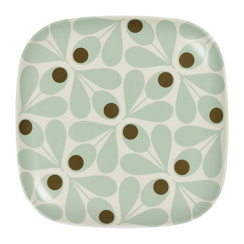 Bamboo Side Plate - Acorn Spot - Duck Egg