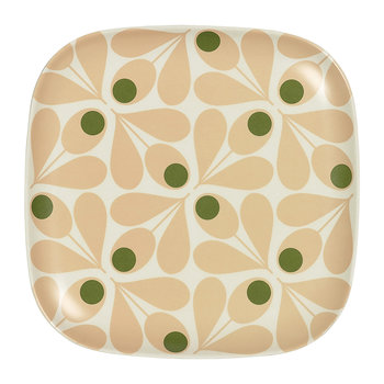 Bamboo Side Plate - Acorn Spot - Pale Rose