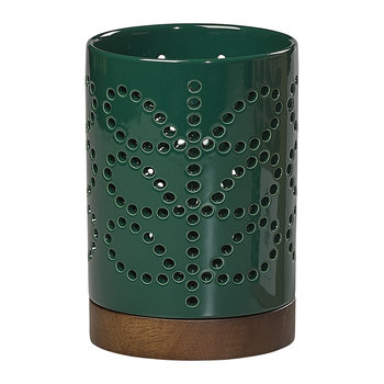 Linear Stem Ceramic Lantern - Small - Evergreen
