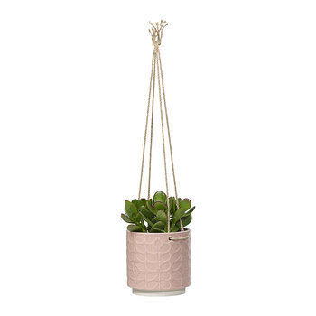 Sixties Stem Ceramic Hanging Pot - Rose - Medium