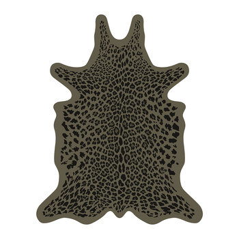 Leopard Vinyl Floor Mat - Brown