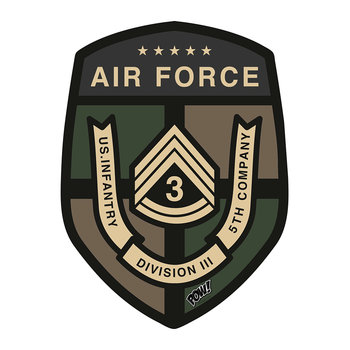Military Badge Vinyl Floor Mat - Airforce
