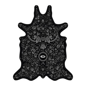 Tattoo Vinyl Floor Mat - Black