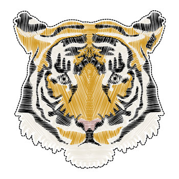 Tiger Vinyl Floor Mat