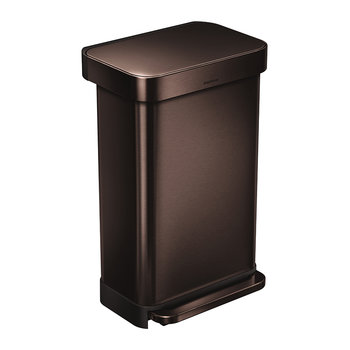Rectangular Pedal Bin - 45L - Dark Bronze