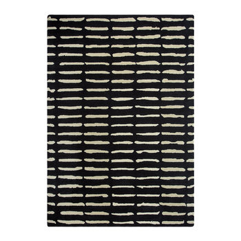 Dotted Lines Rug - Black & White - 140x200cm