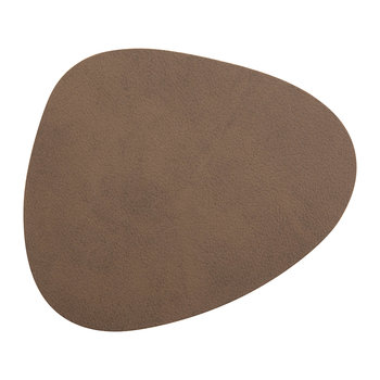 Curve Drinks Coaster - Brown