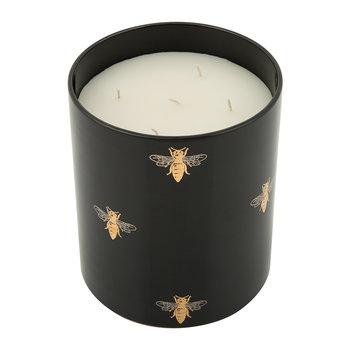 Bee Porcelain Candle - Dark Amber