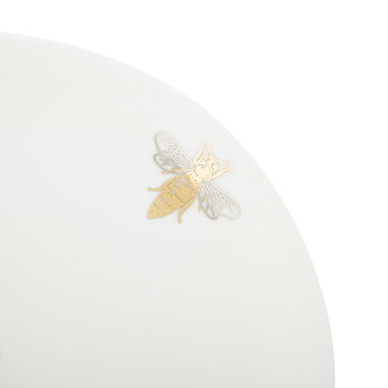 Bee Side Plate - Fine Bone China - White