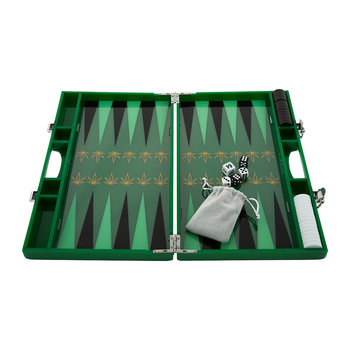 Lackiertes Backgammon-Set - Leaf