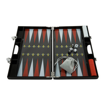 Lacquered Backgammon Set - 57x47cm - Red/White Bee