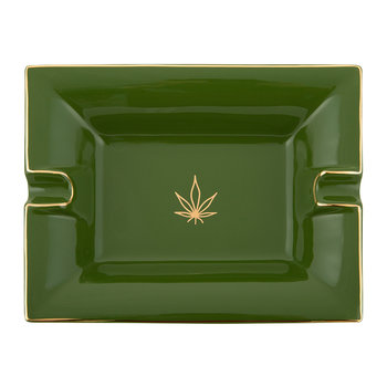 Leaf Trinket Tray/Ashtray - Porcelain - Green