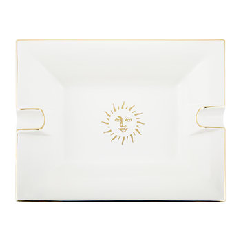 Sun Trinket Tray/Ashtray - Porcelain - White