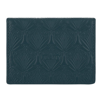Embossed Travel Card Holder - Petrol