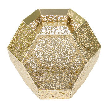 Etch Dot Tealight Holder - Brass
