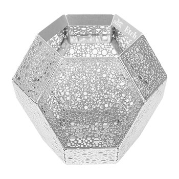 Etch Dot Tealight Holder - Stainless Steel