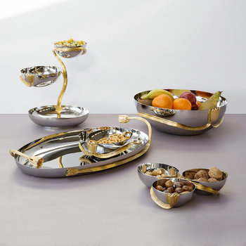 Deco Leaves Condiment Server