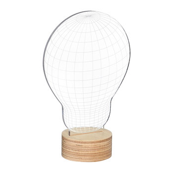 Bulb Lamp - Glass/Plywood Birch