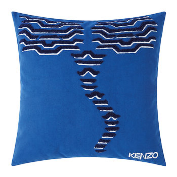KTiger Embroidered Pillow Cover - 45x45cm - Blue