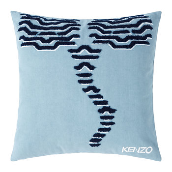 KTiger Embroidered Cushion Cover - 45x45cm - Grey
