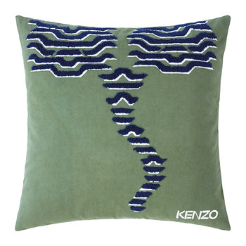 KTiger Embroidered Cushion Cover - 45x45cm - Khaki