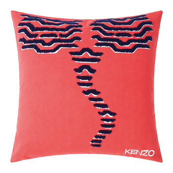 KTiger Embroidered Cushion Cover - 45x45cm - Red