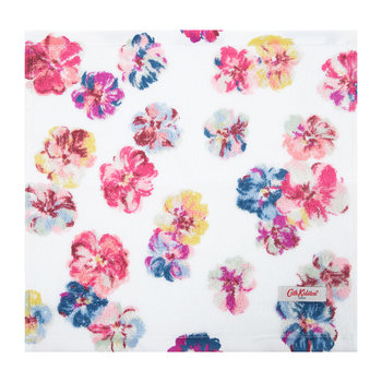 White Cotton Face Cloth - Set of 3 - Guernsey Flowers