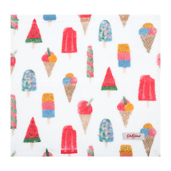 White Cotton Face Cloth - Set of 3 - Ice Cream