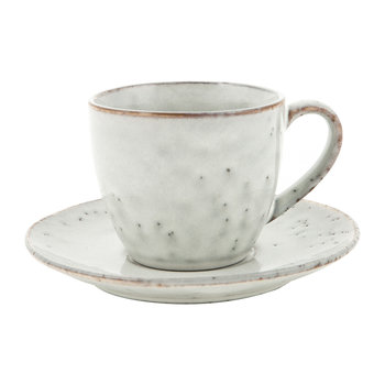 Nordic Sand Teacup & Saucer - Stoneware - Sand