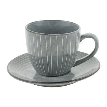 Nordic Sea Teacup & Saucer - Stoneware - Sea