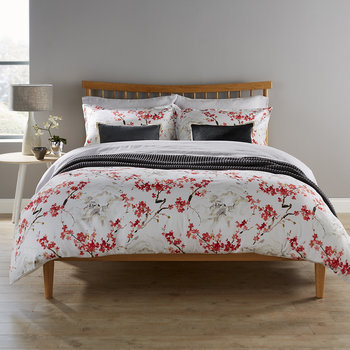 Haruki Duvet Set - Coral