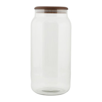 Glass Storage Jar With Oak Lid