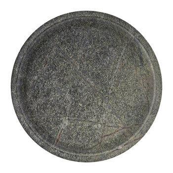 Round Marble Tray - Green