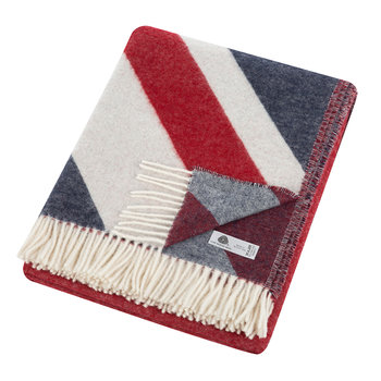 Union Jack Merino Lambswool Throw - Multi