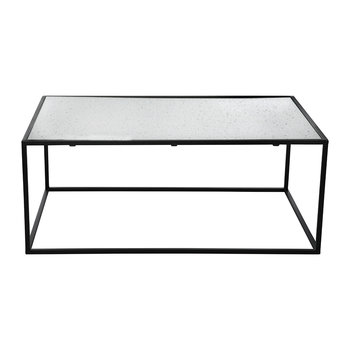 Aged Glass Table - 80x90x30cm