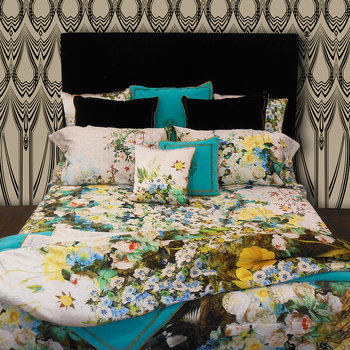 Flonature Bed Set - Green - Super King