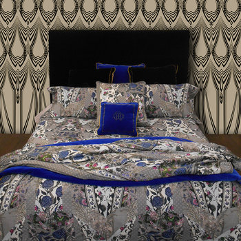 Patchwork Bed Set - Gray - Super King