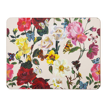 Nathalie Lete Roses Table Mat - Ivory